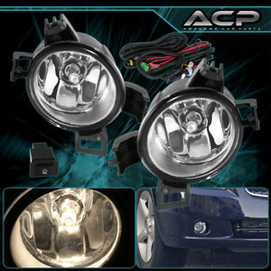 For 2005 2006 Nissan Altima Front Bumper Clear Fog Lamps Lights Assembly Set