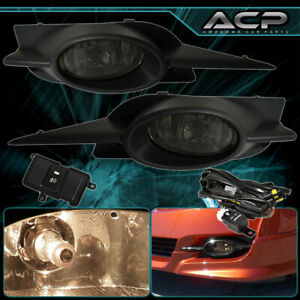 For 09 11 Civic 2dr Replacement Bumper Fog Lights Lamps Smoked Wiring Harness
