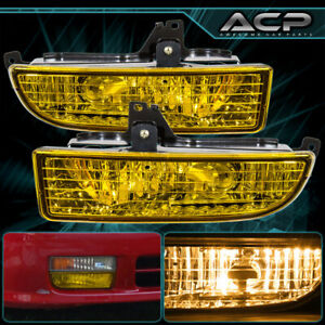 Chrome Housing Yellow Lens Fog Light Lamp For 97 98 99 00 01 Honda Prelude Bb