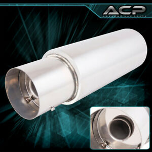 Performance Racing Exhaust Muffler System 4 5 Stainless Steel Flat Tip Exhaust