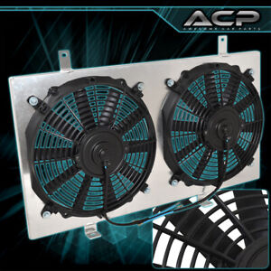 For Honda Prelude Accord Acura Cl H22 M T 12 Dual Cooling Radiator Fan Shroud