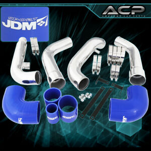For Nissan 200sx S13 Bolt On Turbo Charger Piping Racing Intercooler Blue Kit