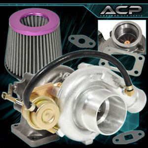 T3 T4 Turbo Turbocharger Flanges V band Outlet Jdm High Flow Air Filter Purple