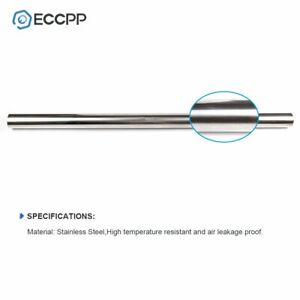 Eccpp 3 Inch Od 5 Long Stainless 304 Steel Straight Exhaust Pipe 5ft Tubing