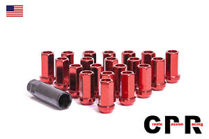 Cpr Close Ended 17hex Steel Racing Wheel Lug Nuts Performance Red 12x1 5 20p