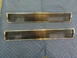 1967 Chevy Chevelle Ss Hood Scoop Inserts Louvers Pair Original Gm 418