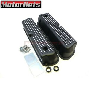 Small Block Ford Black Aluminum Valve Covers 289 302 351w 5 0l Mustang Hot Rod
