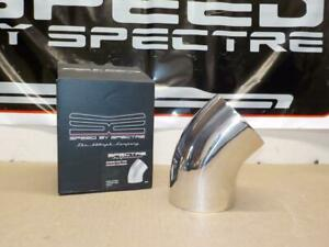 Spectre 9749 Cold Air Intake Tube 45 Degree 4 Elbow Polished Aluminum