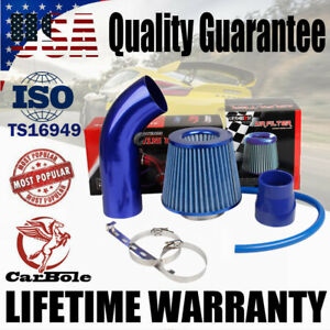 Air Intake Kit Blue Pipe Diameter 3 Cold Air Intake Filter Clamp Accessories