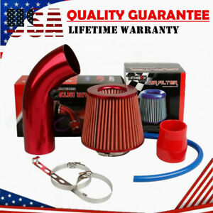 Air Intake Kit Red Pipe Diameter 3 cold Air Intake Filter Clamp Accessories