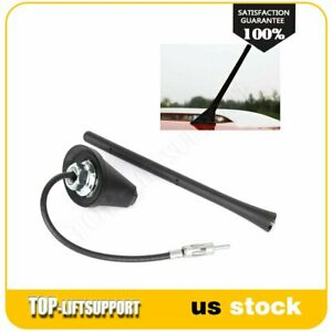 1pcs Universal Black Caraerial Roof Antenna Radio Am Fm With Mount Swivel Base