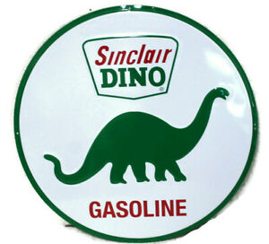 Large Vintage Style 24 Sinclair Dino Gas Station Signs Man Cave Garage Decor