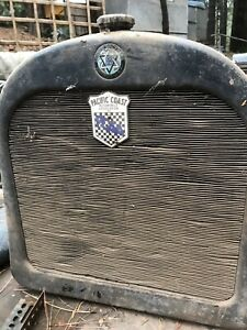 1920 s Dodge Brothers Radiator With Porcelain Badges Pacific Coast Auto Assoc
