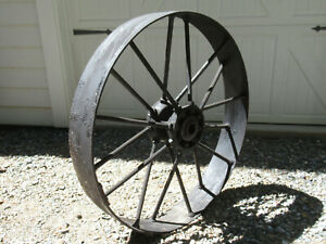 Antique Large Heavy Cast Iron Spoked Wheel