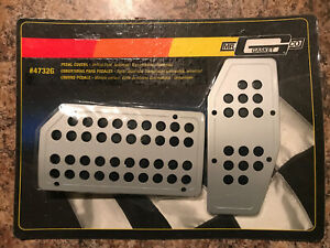Mr Gasket 4732g Pedal Covers Drilled Style Automatic Transmission Universal
