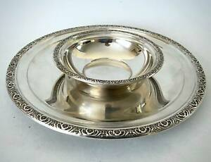 Vintage Sterling Silver International Silver Co Prelude Bowl And Plate Set