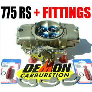 New Race Demon 3402010tm 775 Rs 0val Track Master Gas Barry Grant 8 Fittings