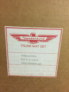 1962 63 Ford Thunderbird Convertible Mat And Board Set P N C2sb 7645500 A01