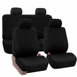 Seat Covers For Car Truck Suv Van Universal Fitmentment Solid Black