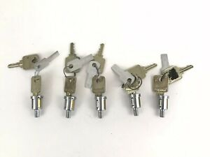 Lot Of 5 Used Medeco 5 8 Cam Lock Cylinders W 2 Keys And Key Code Tags 72s
