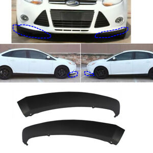 L r 2pcs Bumper Lower Front Underbody Air Spoiler Lip Fit For 2012 14 Ford Focus