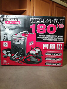 Lincoln Electric 180 Hd Weld pak Mig Wire Feed Welder K2515 1 new