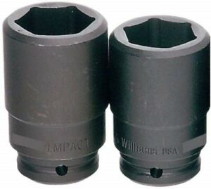 3 4 Drive Deep Impact Socket 6 Point S a e Black Industrial Finish Williams