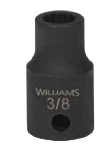 1 2 Drive Shallow Impact Socket 12 Point Sae Black Industrial Finish Williams