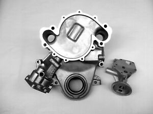 304 360 Amc Jeep New Timing Cover And Oil Filter Adapter