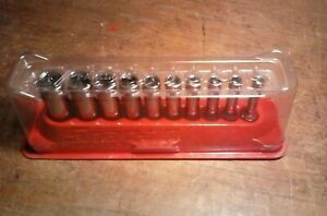 Snap On 10 Pc Pakty219 1 4 Drive 12pt Sae Dp Socket Set Mag Tray 3 16 To 9 16