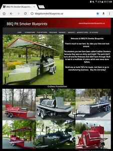 Pit Smoker Trailer And Backyard Bbq Grills Blueprints Designs And Plans