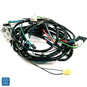 1968 Caprice Front Light Harness 6 Cylinder With Warning Lights