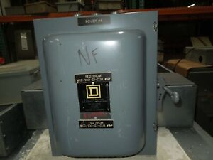 Square D 82343 E1 100a 3p 600vac Double Throw Not Fusible Manual Transfer Switch