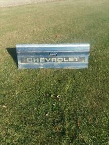 Chevrolet Tailgate Bench Vintage Old Truck Chevy 4x4 Diesel Square Body Wall Art