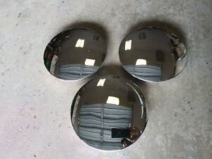 Three Roadster Wire Wheel Chrome Smooth Baby Moon Center Caps