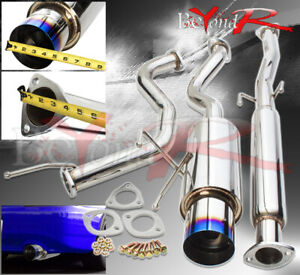 For 1994 2001 Acura Integra 2 5 To 3 Pipe Catback Muffler Exhaust System Burnt