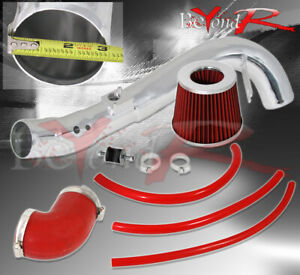 For 06 11 Honda Civic Si Polished Cold Air Intake High Flow Induction Filter