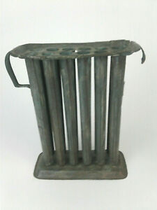 Antique Vintage Primitive Taper Candle Mold Metal Tin Holds 12 Candles