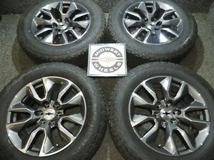 2020 Silverado Rst 20 Wheels Bstone At Tires P275 60r20 Factory Oe Take Offs 81