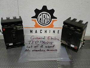 General Electric Ted136015 Circuit Breakers 15a 600vac 3p Used Warranty Lot Of 2