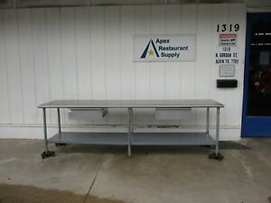 10 Foot Stainless Work Table With 2 Drawers 4797