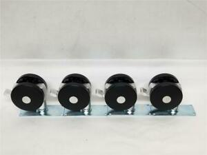 3 Swivel Bolt On Casters With Brake Lot Of 4