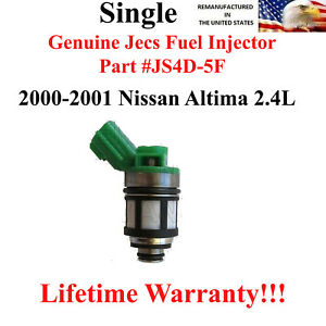 Js4d 5f Genuine Single Jecs Fuel Injector For 2000 2001 Nissan Altima 2 4l
