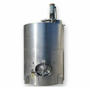1 200 Gallon Stainless Steel Sanitary 316 Polished Vertical Mix Juice Tank