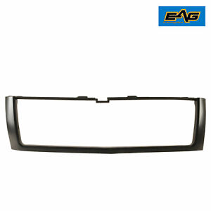 Eag Fit For 2007 2010 Chevy Silverado Hd Matte Black Grille Shell Abs Plastic