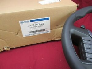 2010 2012 Lincoln Mks Leather Wrapped Steering Wheel Sienna Black