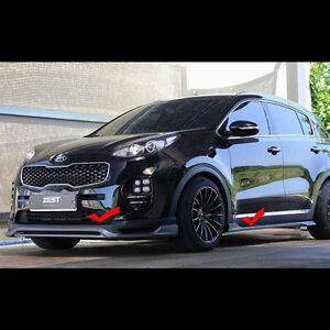 Front Lip Side Wing Body Kit Parts Unpainted For Kia All New Sportage 2016 2017
