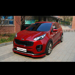Front Lip Side Skirts Aero Parts Unpainted For Kia Sportage 2016 2017