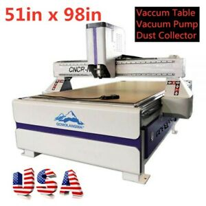 51 X 98 1325 Multifunctional Cnc Router With Vaccum Table dust Collector Usa