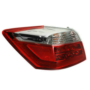 For 13 15 Accord Ex l touring Outer Taillight Taillamp Rear Brake Lamp Left Side
